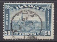 "Canada Scott #176 50 cent Grand Pre, NS Acadian Church ""KGV Leaf""   F"