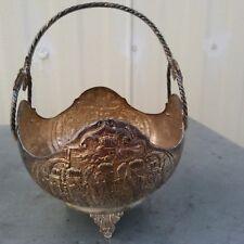 Middle East royal antique silver tripods flower basket