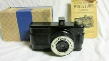 VINTAGE 1950s CANDID CINEX CAMERA BY CRAFTSMAN SALES CO W/ BOX AND MANUAL