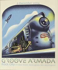 Emek Handbill Silkscreen Print Groove Armada 2004 Poster Mint Condition 12/6/04