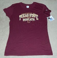 Womens/Ladies RUSSELL Texas State Bobcats S/S Shirt, Sz. XL ~ NWT