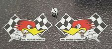 Mr Horsepower opposite hand Stickers Left Right Facing Clay Smith Cams 5inch