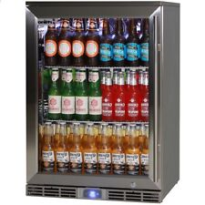 New Rhino Alfresco Lowest Energy Bar Fridge Glass Door Outdoor Rated 129L - GSP1