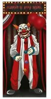 HALLOWEEN CREEPY CARNIVAL EVIL CLOWN DOOR COVER IT PENNYWISE PARTY DECORATION