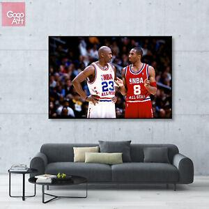 Canvas print wall art big poster nba Kobe Bryant mvp Michael Jordan all star