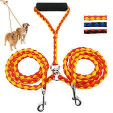 2 Way Nylon Double Dog Twin Lead Handle Coupler/Splitter Leash for Two Dogs Walk