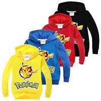Pokemon Go Kids Boys Girls Long Sleeve Sweatshirt T-Shirt Casual Tops Clothes