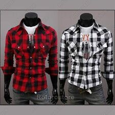 Unbranded Checked Slim Casual Shirts & Tops for Men