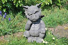 Der Denker Süsser Gartendrache Drache Drachenfiguren Garten Deko Fantasy Figuren