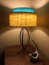 Fiberglass lamp shade ebay mid century vintage style 2 tier fiberglass lamp shade modern atomic retro ivtq aloadofball Images