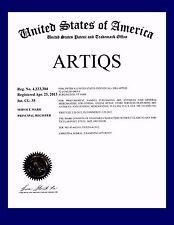 ARTIQS® REGISTERED TRADEMARK+ART&ANTIQUES BIZ+DOMAIN+EBAY STORE+INVENTORY