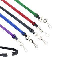 Bulk 100 Lanyards for ID Badges w/ Safety Breakaway & Swivel Hook Specialist ID