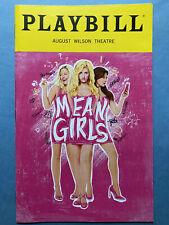 MEAN GIRLS Playbill (Sep 2018) Taylor Louderman + Erika Henningsen (Tina Fey)