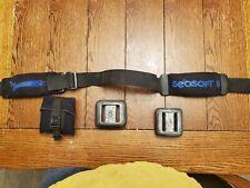 Seasoft 8lb Weight Belt -Blue Lettering w/quick release plus 5# & 6# Sea Pearls
