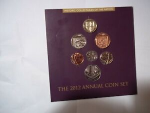 2012 BUNC  Great Britain Annual 7 Coin Royal Shield Set By Royal Mint .FREE p&p