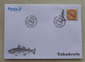 2016 DENMARK FAROE ISLAND FISH FIRST DAY COVER FDC