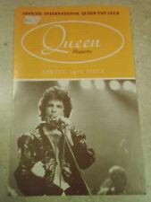 Official International Queen Fan Club, Queen Magazine, Spring 1978, Vtg