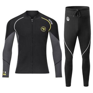 Scuba Diving Suit Men 1.5MM Wetsuit Surfing Swim Neoprene Underwater Jacket Pant