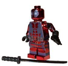 **NEW** LEGO Custom Printed CHROME DEADPOOL Marvel Universe Minifigure