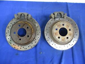 1996-04 Ford Mustang Rear Brake Calipers and Slotted Drilled Rotors BM