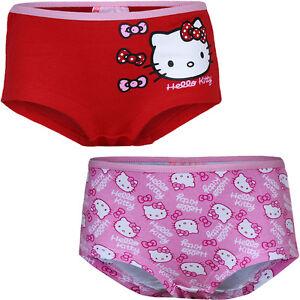Hello Kitty Underwear 2er Pack Girl Boxer Shorts 92-98 104-110 116-122 #88