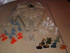 1995 star wars millennium falcon ,25 mini Hasbro figures and 2 mini vehicles