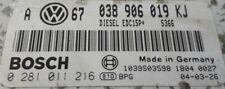 SEAT LEON TOLEDO 1.9TDI ASZ 130BHP BOSCH ECU 038906019KJ TUNED REMAPPED IMMOOFF