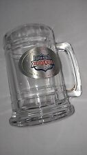 Super Bowl XXXIV Glass Mug Stein VTG 2000 Atlanta Georgia NFL Football Pewter