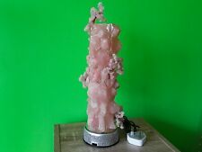 Rose quartz mood lamp, rose quartz, rose quartz crystal, large rose quartz lamp