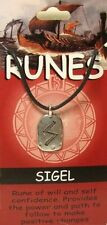 Sigel Rune for Self Defence Pewter Pendant on Corded Necklace #BE-8000-SIC