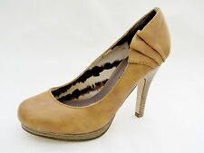 "Women's 6M Pumps New Madden Girl Light Brown 3¾"" High Heels Fizzlee ½"" Platform"