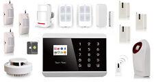 KIT Alarme Maison COMPLET Sans Fil GSM Android Iphone + Détecteurs Télécommandes