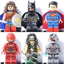 2018 6pcs Justice League Superheroes Wonder Woman Cyborg Flash Aquaman fit Lego