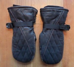 Kombi Mittens Madhatter Womens Large Leather Soft Black Brown