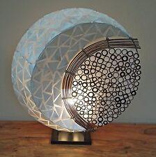 Lampada GRANDE LUNA DI BALI Fatto a Mano Insolito BALI Shell e Bamboo Comodino Lampada