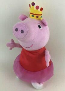 "Fisher Price Talking Peppa Pig 13"" Plush Stuffed Toy 2013 Ballerina Pig Mattel"