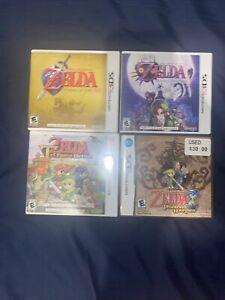 LOT 4 NINTENDO 3DS THE LEGEND OF ZELDA Ocarina of Time ,Majoras mask Phantom