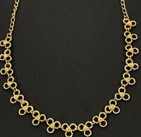 Vintage Clover Gold Tone Choker Adjustable Necklace