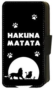 Disney THE LION KING Timon Hakuna Matata Wallet Flip Phone Case iPhone ALL model