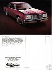 1979 OLDSMOBILE Advertising Promo Postcard MI  Delta 88