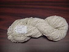 RAYON Chenille Yarn 480 YPP 1 Skein, 4 oz.120 Yards Color Milk.