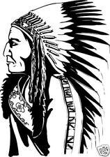 Indianer  Aufkleber Sticker Wandtattoo m346