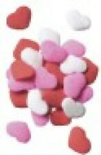 Edible Confetti Sprinkles Cookie Cake Valentines Day RED PINK WHITE HEARTS 4 oz.