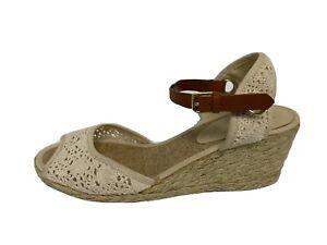 Lauren Ralph Lauren Capricia women's platform espadrilles wedge shoes size 8B