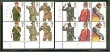 Pair Corner Blocks of 6 - Mnh British Army Uniforms Scott 2508-2513 Sg 2774-2779