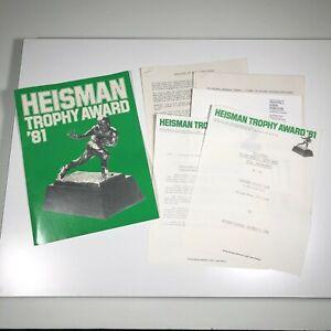 Official Heisman Trophy Award 1981 News Press Release Packet Marcus Allen 11 pgs