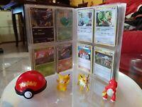 Rarissimo lotto Pokémon Pikachu 56 carte + palla magica da collezione