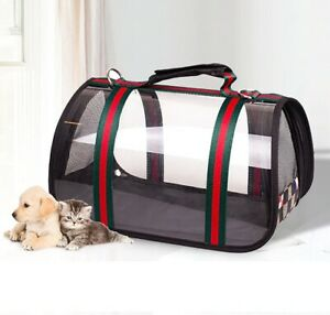 High Quality Designer Inspired Transparent Luxury Pet Bag Carrier for Dogs Cats