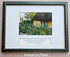 Rick Henderson AN IRISH GARDEN Blessing Print Matted Framed Green Wood Frame