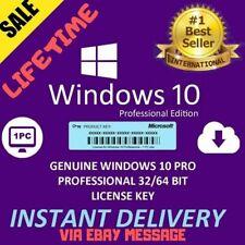 Windows 10 PRO Professional 32/64 BIT Genuine Activation ✔ LICENSE INSTANT